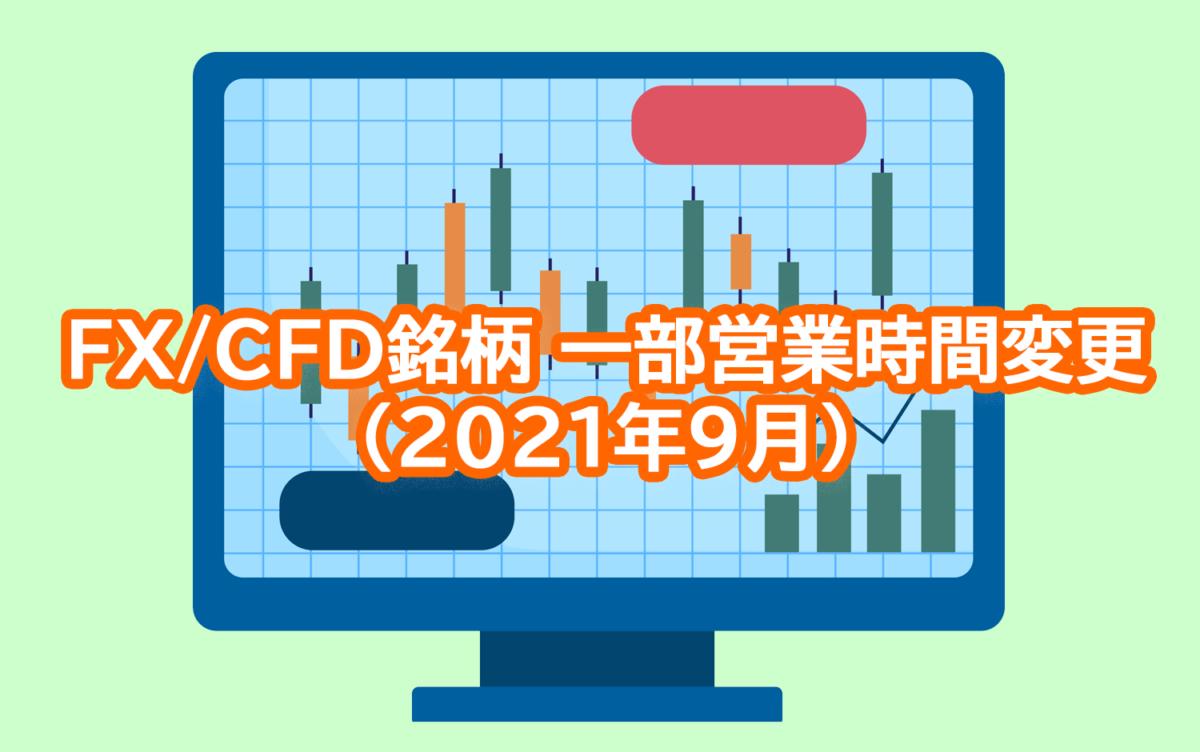 【GEMFOREX】FX/CFD銘柄の一部営業時間変更について